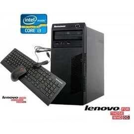 Microcomputador Lenovo desktop ,Core I3-4130 3.4 Ghz 4ª. geração ,Miclen 63 ,90at0002br, Ram 4gb Ddr3, Hd 500gb, DVD-RW, Intel® HD Graphics, Gigabit Ethernet, PCI Express x16, Linux 90AT0002BR