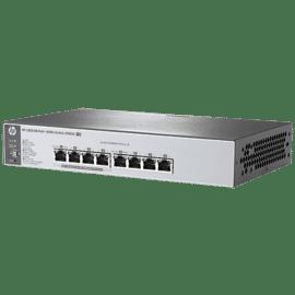 Switch HP 1410 series HP 1410-8 Switch , J9661A, NÃO Gerenciável, Não Empilhável,8p Fast Potência de POE, Baixo Custo, QoS, Alta Performance, Baixa Latência, Similar ao J9561A,Não Slots de expansão mas sem porta fibra (SFP)Capacidade de routing/switching: