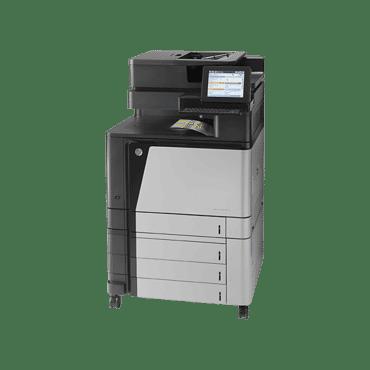 Multifunctional HP Color LaserJet Enterprise flow M880z,A2W75A, scanner, impressora, fax, copiadora,fax, ciclo mensal 200.000 pág,pb 45 pág/min, wi-fi, rede, Gigabit Ethernet , HIP,4 usb, A3, duplex ImageREt Hi-Speed USB 2.0 HP ImageREt 4800