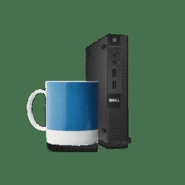 Computador Dell Desktop OptiPlex 3040M processador Intel Core i3-6100T 3.2GHz, memória 4GB RAM, 500GB HD, Windows 10 Pro ( downgrade 7 Pro) 210-AITE-00NK-DC069