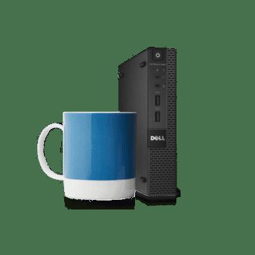 Computador Dell Desktop OptiPlex 3040M processador Intel Core i5-6500T 2.5GHz, memória 4GB RAM, 500GB HD, Windows 7 Pro 64 bits (inclui licença Win 10 Pro) 210-AITE-DC056