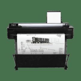 Plotter HP Designjet T520 ePrinter series 36 polegadas, 914 mm, Ecrã Táctil, Até 2400 x 1200 dpi otimizados, Alimentação por folha e rolo, bandeja de entrada e mídia, cortador, ePrint & Share, Fast Ethernet, USB 2.0, Wi-Fi, cor 25,6 m²/h ,CQ893A,ePrint &